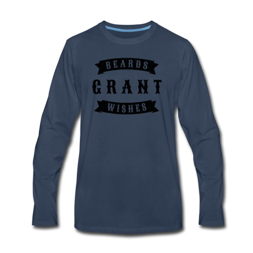 Beards grant wishes, black - Men's Premium Long Sleeve T-Shirt