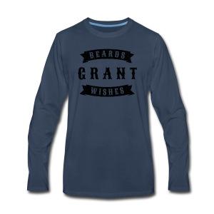 Beards grant wishes, black - Men's Premium Long Sleeve T-Shirt