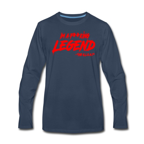 MATH HOFFA- I'M A LEGEND (RED) - Men's Premium Long Sleeve T-Shirt