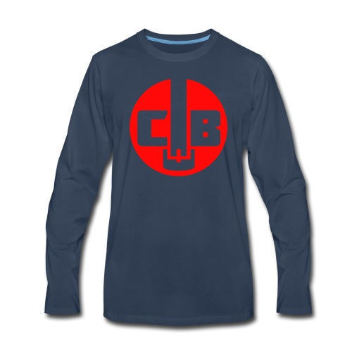 TCB Logo Red One Color - Men's Premium Long Sleeve T-Shirt