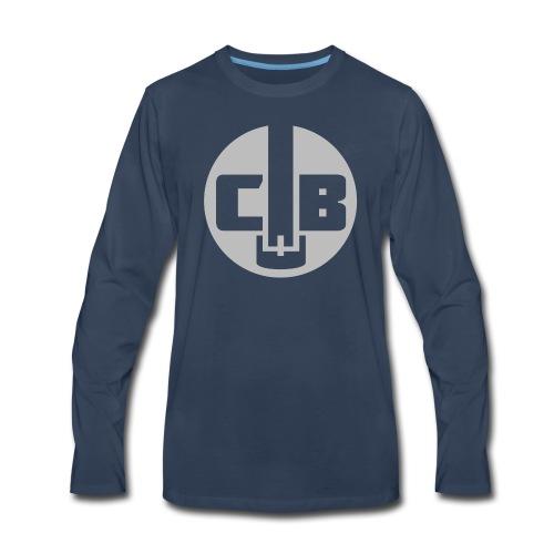 TCB Logo Grey One Color - Men's Premium Long Sleeve T-Shirt
