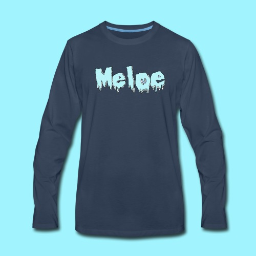 Meloe Drip Drop Logo - Men's Premium Long Sleeve T-Shirt