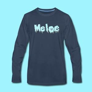 Meloe Drip Drop Logo - Men's Premium Long Sleeve T-Shirt