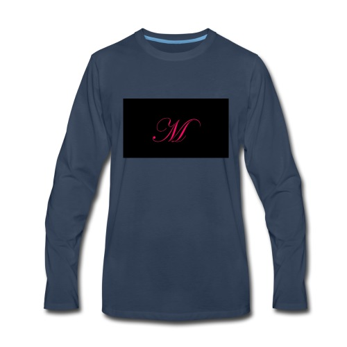 EDWARDIAN M MONOGRAM - Men's Premium Long Sleeve T-Shirt