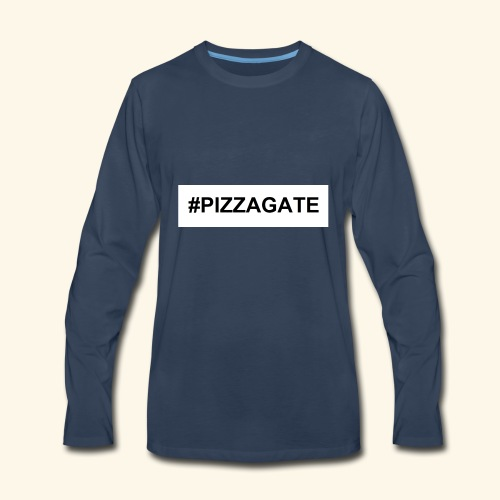 #PIZZAGATE CLASSIC BOX - Men's Premium Long Sleeve T-Shirt