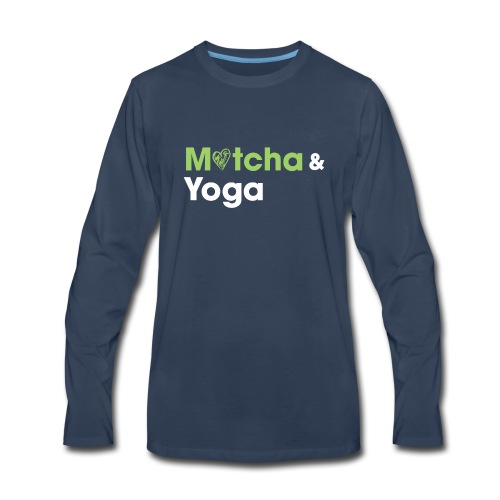 Matcha & Yoga T-shirt - Men's Premium Long Sleeve T-Shirt