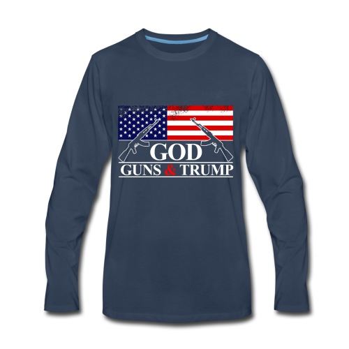 GOD GUNS & TRUMP - Men's Premium Long Sleeve T-Shirt