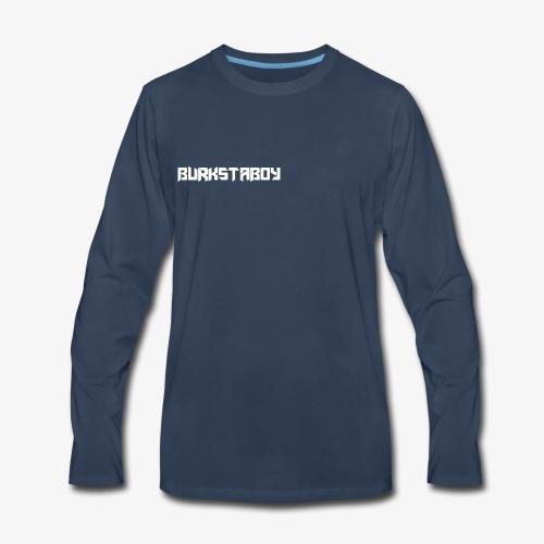 BurkstaBoy (One Word) - Men's Premium Long Sleeve T-Shirt