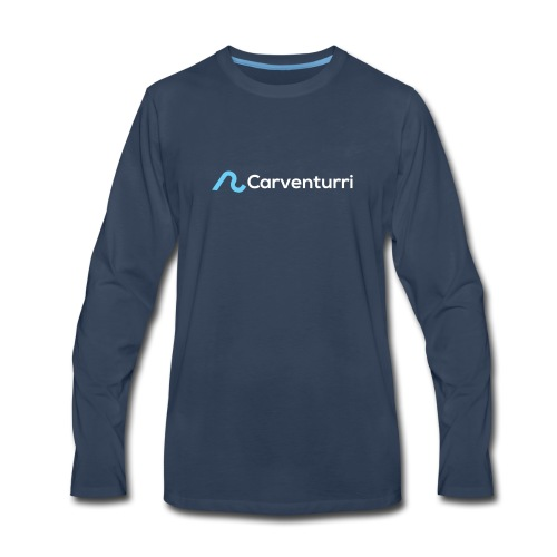 Carventurri Blue Logo - Men's Premium Long Sleeve T-Shirt