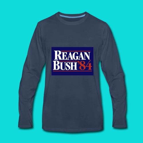 Reagan Bush - Men's Premium Long Sleeve T-Shirt