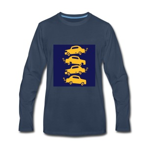 cars in the city - Men's Premium Long Sleeve T-Shirt