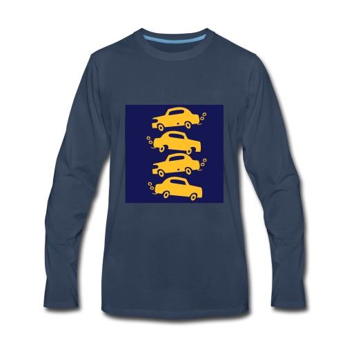 cars in the city - Men's Premium Long Sleeve T-Shirt