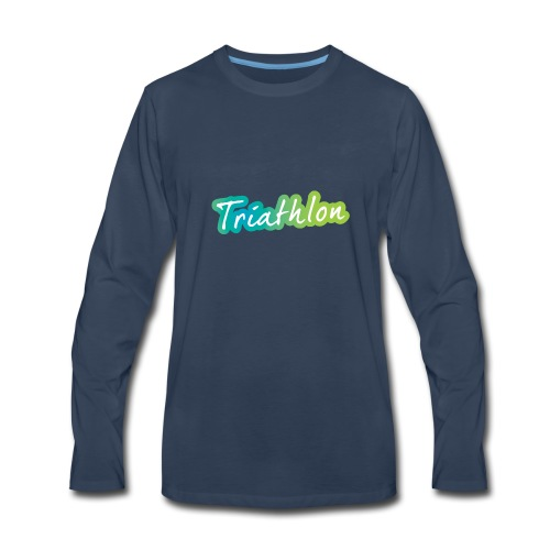 A great Triathlon gift for your friend or family - Men's Premium Long Sleeve T-Shirt