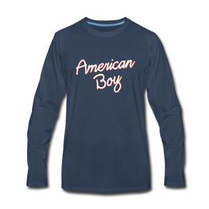 American Boy - Men's Premium Long Sleeve T-Shirt