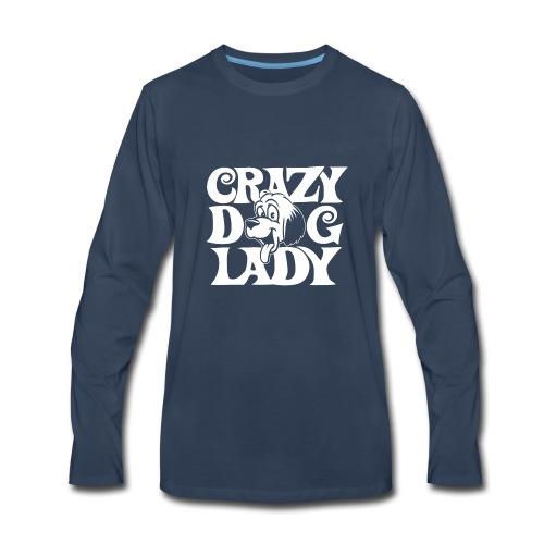04 crazy dog lady copy - Men's Premium Long Sleeve T-Shirt
