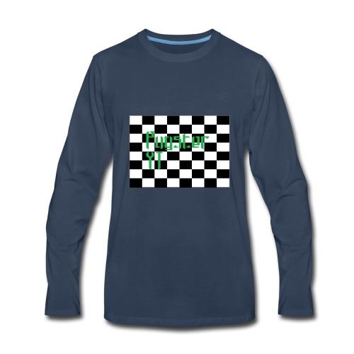 Checkers Pug - Men's Premium Long Sleeve T-Shirt