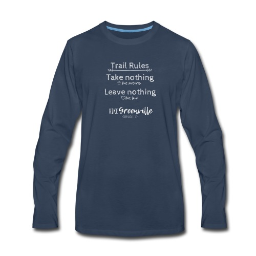 Trail Rules- White - Men's Premium Long Sleeve T-Shirt