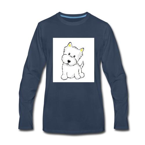 cute pup - Men's Premium Long Sleeve T-Shirt