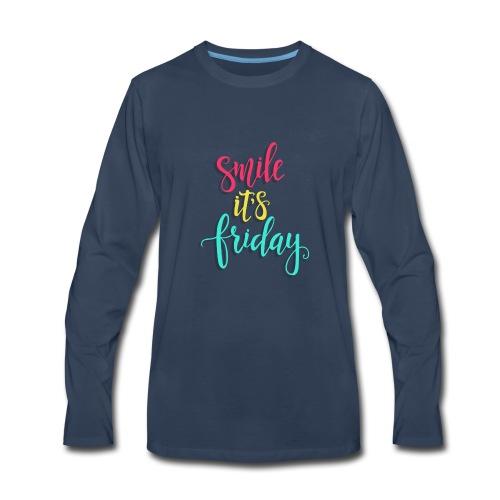 Smile its Friday - Men's Premium Long Sleeve T-Shirt