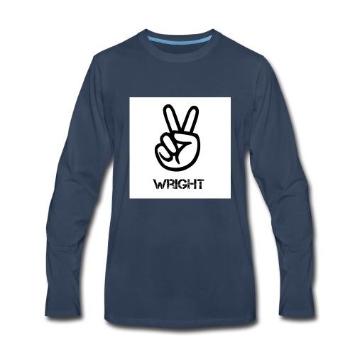 Grey hoodie - Men's Premium Long Sleeve T-Shirt