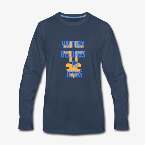 victorybelongstojesusbyHC - Men's Premium Long Sleeve T-Shirt