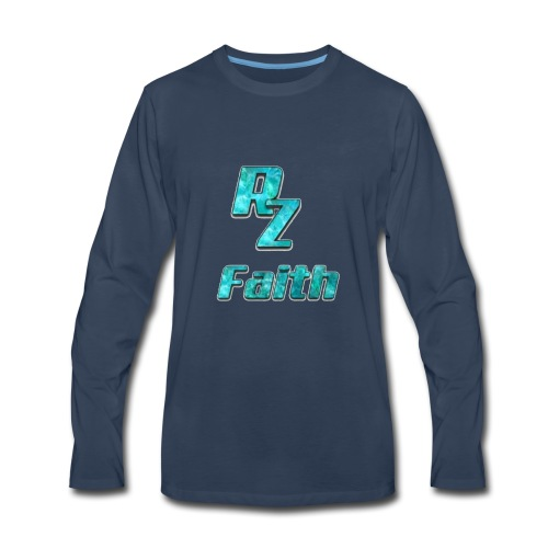 Roze faith appreal - Men's Premium Long Sleeve T-Shirt