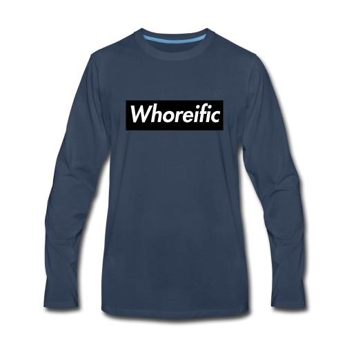 WHOREific label - Men's Premium Long Sleeve T-Shirt