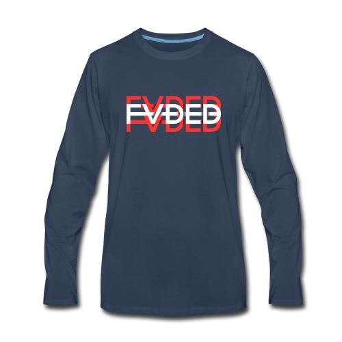 FVDED Red/White - Men's Premium Long Sleeve T-Shirt