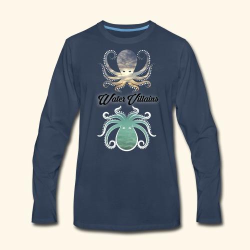 Water Villains Sky and Sea Logo - Men's Premium Long Sleeve T-Shirt