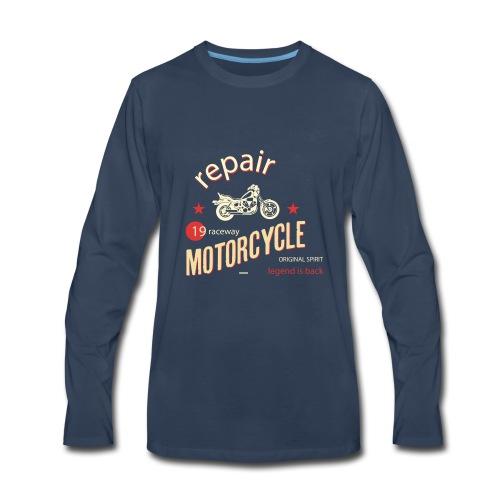 Motorcycle Repair - Men's Premium Long Sleeve T-Shirt