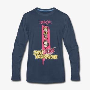 Sick - HeadBBQ - Don't eat your friends - Men's Premium Long Sleeve T-Shirt