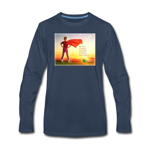 Education Superhero - Men's Premium Long Sleeve T-Shirt
