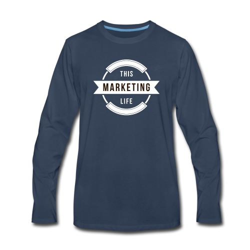 This Marketing Life Logo White - Men's Premium Long Sleeve T-Shirt