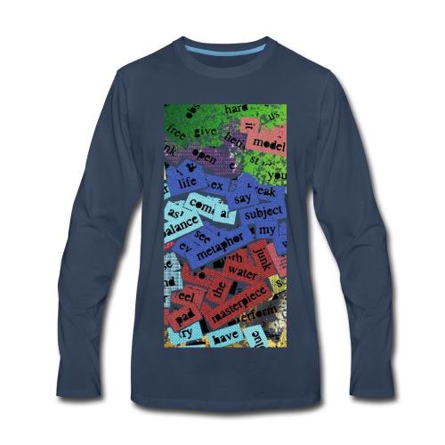 words texture - Men's Premium Long Sleeve T-Shirt