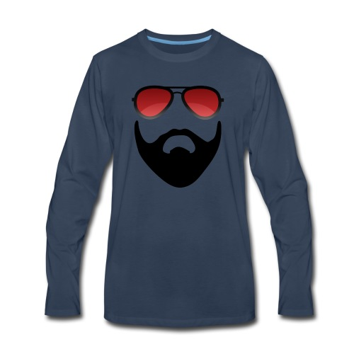 Beard and shades - Men's Premium Long Sleeve T-Shirt