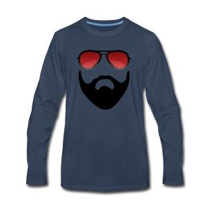 Beard and shades - Men's Premium Long Sleeve T-Shirt