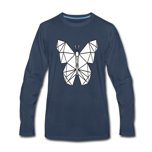 Butterfly Line Art - Men's Premium Long Sleeve T-Shirt