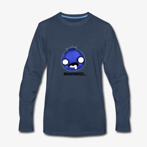 Zomberry wants braaaiiinnnsss - Men's Premium Long Sleeve T-Shirt
