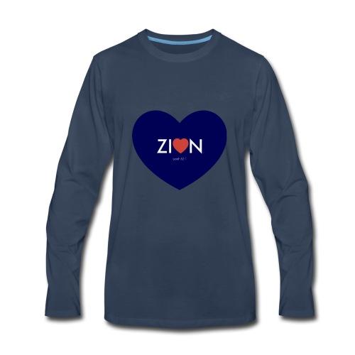Zion in my heart/ I Won't Keep Silent - Men's Premium Long Sleeve T-Shirt
