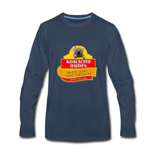Koalacito Osito's White Tears Taco Tortillas - Men's Premium Long Sleeve T-Shirt