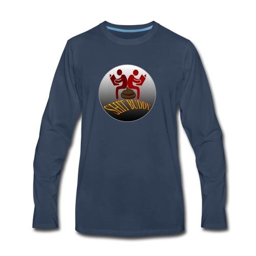 Sh*t Buddies Logo - Men's Premium Long Sleeve T-Shirt
