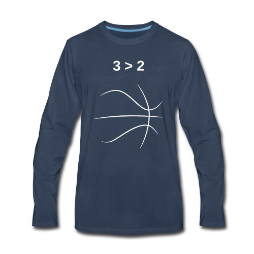 3 > 2 Basketball - Men's Premium Long Sleeve T-Shirt