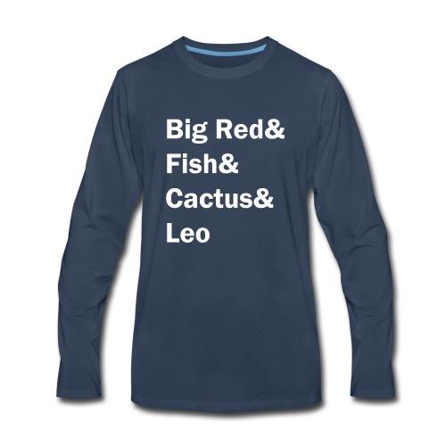 Phish inspired shirt with band member nicknames - Men's Premium Long Sleeve T-Shirt