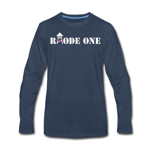 Rhode One logo - Men's Premium Long Sleeve T-Shirt