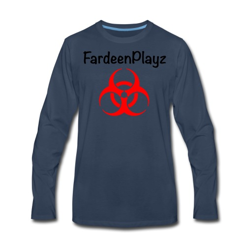 FardeenPlayz At Top W/ Logo - Men's Premium Long Sleeve T-Shirt