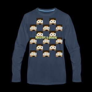 loolitsalex checker logo - Men's Premium Long Sleeve T-Shirt