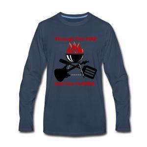 Fire and Flames BBQ - Men's Premium Long Sleeve T-Shirt