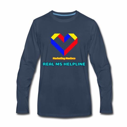 Ms Logo - Men's Premium Long Sleeve T-Shirt
