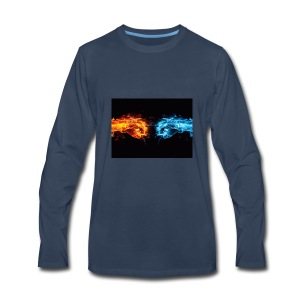 fire fist vs water fist DPOY Logo - Men's Premium Long Sleeve T-Shirt