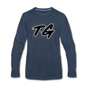 Black and White Lettering - Men's Premium Long Sleeve T-Shirt